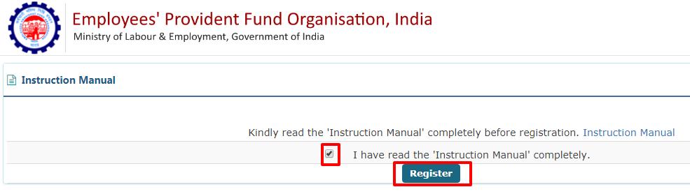 PF online registration 3