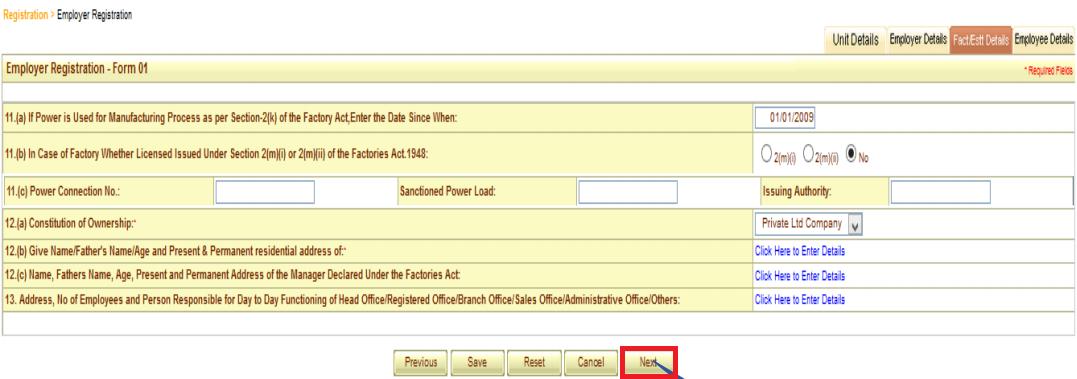 ESI registration procedure 12