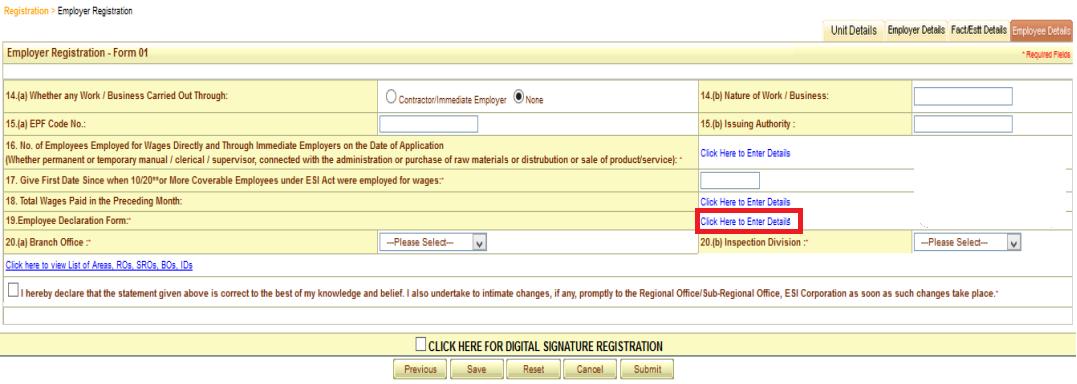 ESI registration procedure 15