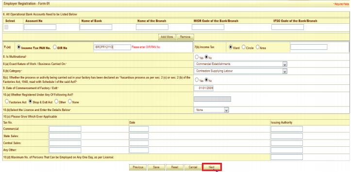 ESI registration procedure 8