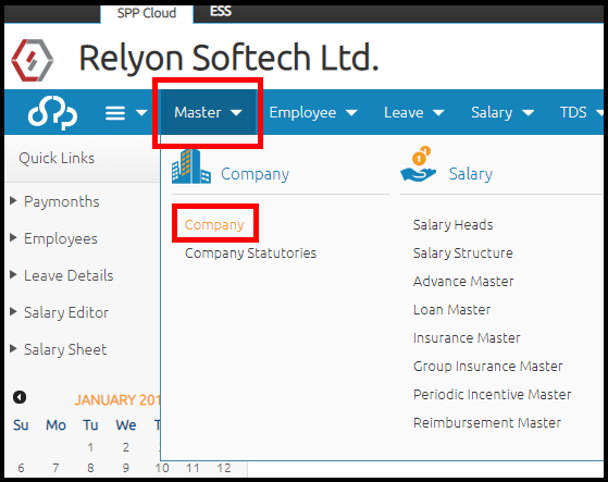 Company details and settings in Saral PayPack Cloud 1
