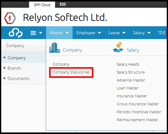 Company details and settings in Saral PayPack Cloud 4