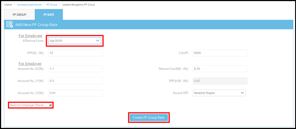 Company details and settings in Saral PayPack Cloud 7
