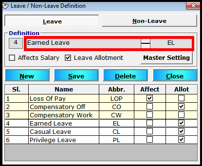 Leave encashment process in Saral PayPack 2