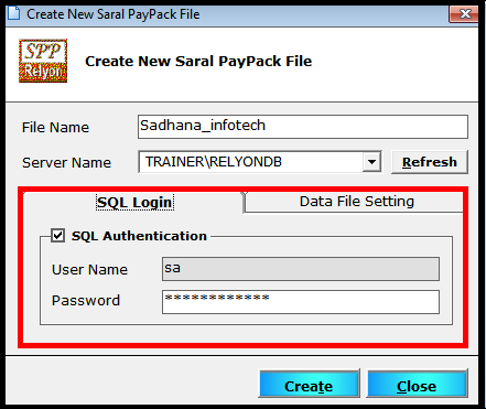 Company creation and Master settings in Saral PayPack 3