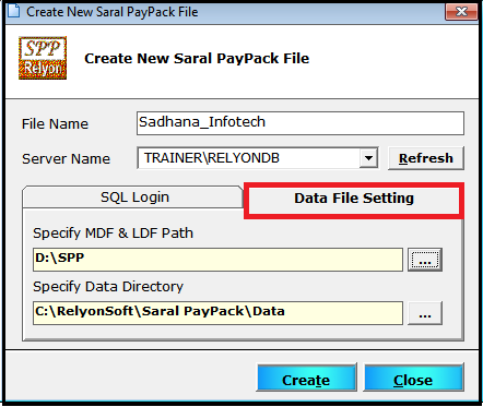 Company creation and Master settings in Saral PayPack 4