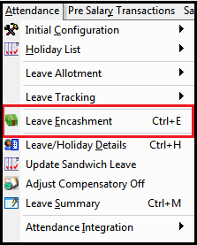 One time tax for Leave Encashment in Saral PayPack - Select leave encashment