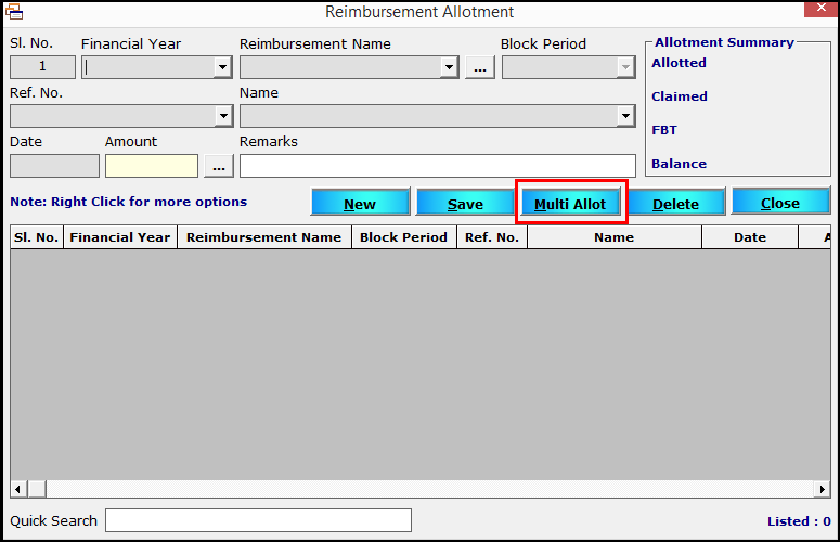 6.Reimbursement module in Saral PayPack-multi alot