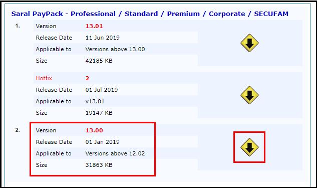 3.Update Saral PayPack-Version 13.00