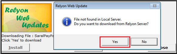 7.Update Saral PayPack-latest update available list
