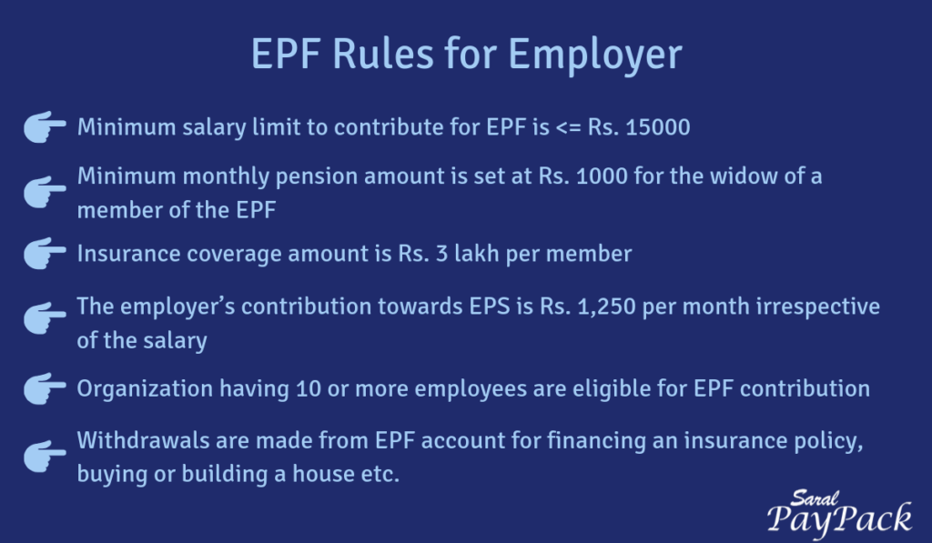 EPF rules for employer