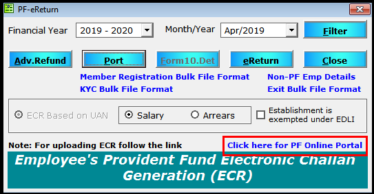 update kyc to epfo 10- pf online portal