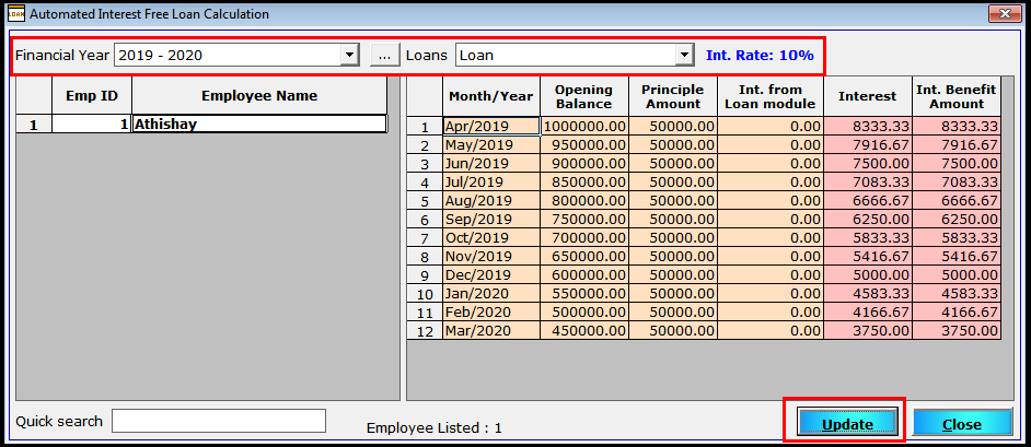 More Employee Details in Saral Pay Pack 10- update the benefit rate for employees