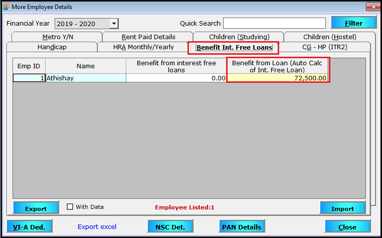 More Employee Details in Saral Pay Pack 13- to view your ported details