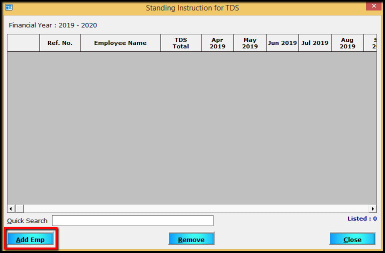 10.Porting computed TDS-Add EMP