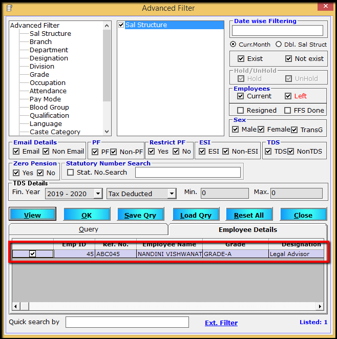 11.Porting computed TDS-filters