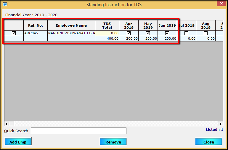 12.Porting computed TDS-Required amount