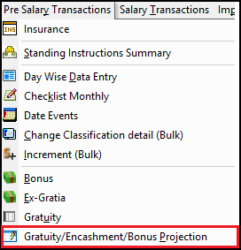 1.Gratuity Projection and Gratuity Calculation-Pre-salary.