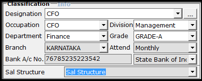 5.Employee Master creation in Saral PayPack - Drop down