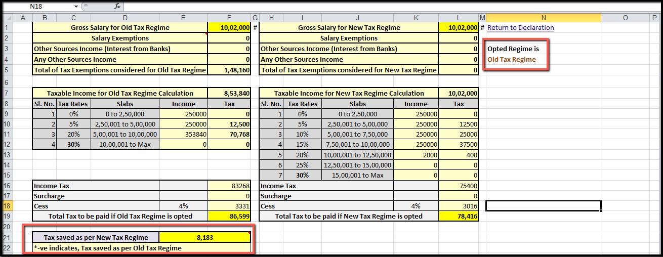 5. new tax regime - Additional